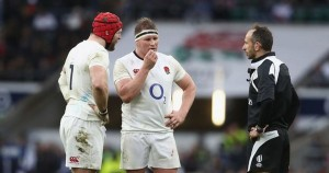 James Haskell and Hartley talking to Poite